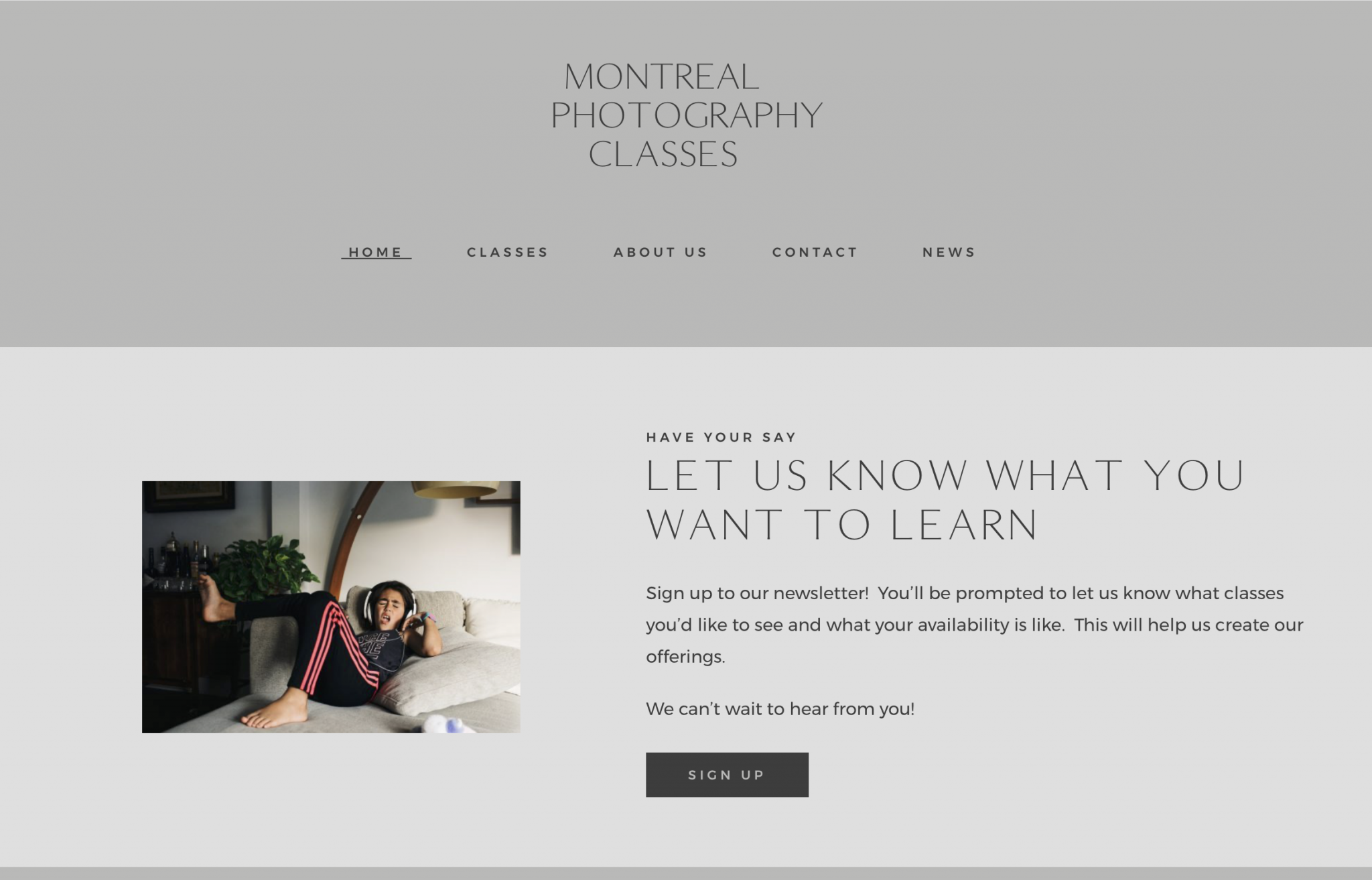 Montreal Photography Classes
