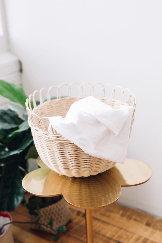 pure white cotton swaddle
