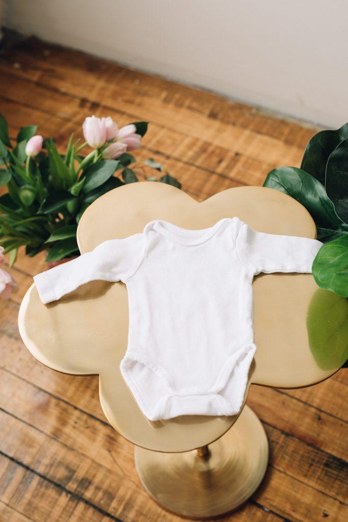 simple white onesie